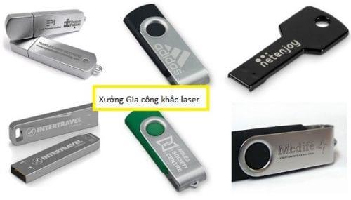 Khắc laser lên USB giá rẻ tại Hà Nội
